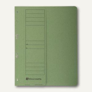 Exacompta Ösenhefter, 1/2 Vorderdeckel, mit Organisationsdruck, grün, 351625B