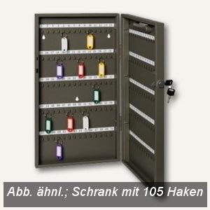 Alco Schlüsselschrank mit 105 Haken, 270 x 515 x 52 mm, lichtgrau, 895S33