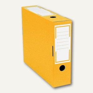 smartboxpro Archivschachtel, schmal, 76 x 260 x 315 mm, gelb/weiß, 226151120