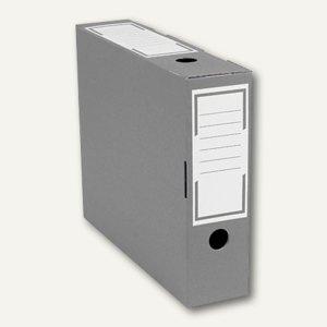 smartboxpro Archivschachtel, schmal, 315x76x260 mm, anthrazit/weiß, 226161120