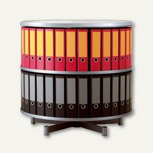Ordnersäule Rotafile Multifile (H)87 x (Ø)80 cm, 2 Etagen für 48 Ordner, graphit
