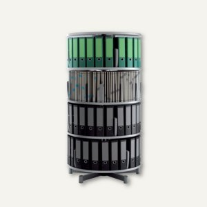 Ordnersäule Rotafile Mutifile (H)159 x (Ø)80 cm, 4 Etagen f. 96 Ordner, graphit,