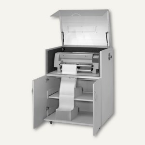 Druckerschrank 130 für Nadeldrucker, Lärmdämmhaube, hellgrau, 92130