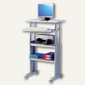 dataflex stehpult pc arbeitsplatz grau. Black Bedroom Furniture Sets. Home Design Ideas