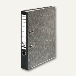 Falken Ordner Recycling, A4, Rücken 50 mm, Wolkenmarmorbezug, schwarz, 80022700