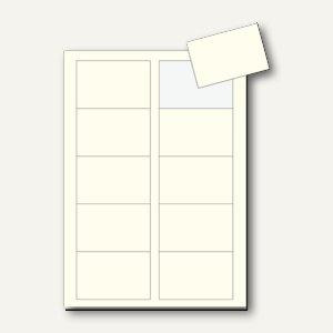 Sigel PC-Visitenkarten 3C, 85x55mm, 225 g/m², pastell vanille, 100 Stück, DP796
