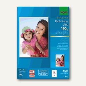 """Sigel Fotopapier """"Ultra"""", DIN A4, hochglänzend, 180g/m², 50 Blatt, IP639"""