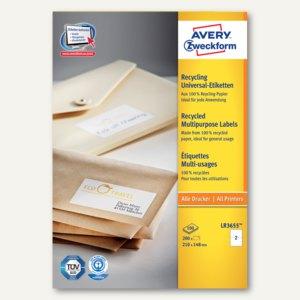 Zweckform Recycling Universal-Etiketten, 210 x 148 mm, 200 St., LR3655