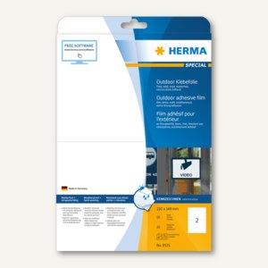 Herma Outdoor-Etikett, temperaturbeständig, 210 x 148 mm, 20 Stück, 9535