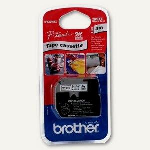 Brother Schriftbandkassette 9 mm, schwarz auf weiß, 4m, M-K221SBZ