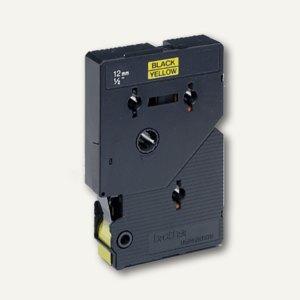 Brother Beschriftungsband 12 mm, schwarz auf gelb, TC-601
