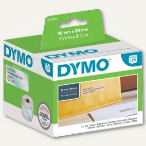 Dymo Adress-Etiketten, permanent, 36 x 89 mm, transparent, 260 St., S0722410