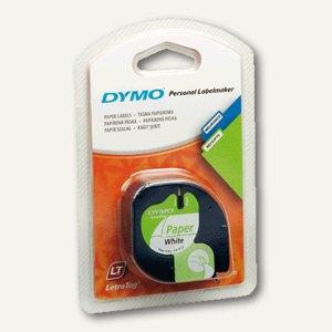 Dymo Etikettenband LetraTag, 12 mm, Papier, weiß, S0721520