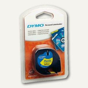 Dymo Etikettenband LetraTag, 12 mm, Plastik, gelb, S0721670