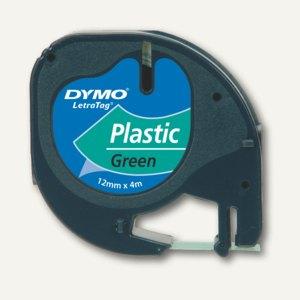 Dymo Etikettenband LetraTag, 12 mm, Plastik, grün, S0721690