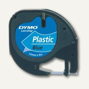 Dymo Etikettenband LetraTag, 12 mm, Plastik, blau, S0721700