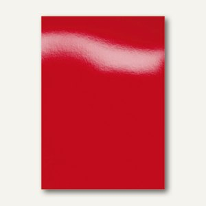 GBC Einbanddeckel HiGloss, DIN A4, Karton, 250g/m², rot, 100 Stück, CE020030