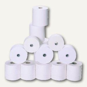 Kassenrolle, 57 x 65 x 12 mm/40 m, 1-fach, 60g/qm, weiß, 5 Rollen, 45057-30001