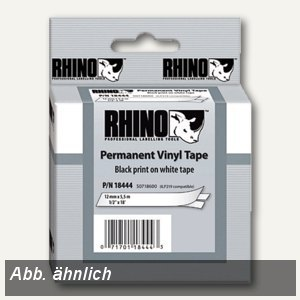 Dymo Rhino Etikettenband, 19 mm x 5.5 m, Vinyl, schwarz/weiß, S0718620