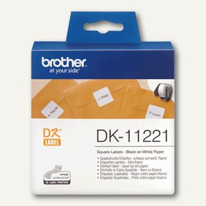 Brother DK Etiketten, Adress-Etiketten, 23x23mm, 1.000 Stück, DK11221