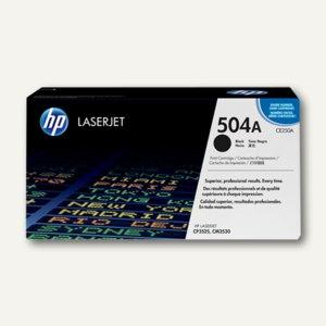 HP Lasertoner 504A, ca. 5.000 Seiten, schwarz, CE250A