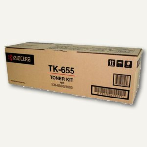 Kyocera Toner für Laserdrucker, schwarz, TK655