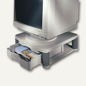 Fellowes Monitorträger Plus, höhenverstellbar mit Schublade, bis 27kg, 91713-70