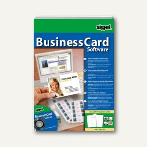 Sigel Software BusinessCard-Designer, Set mit 200 Visitenkarten, SW670