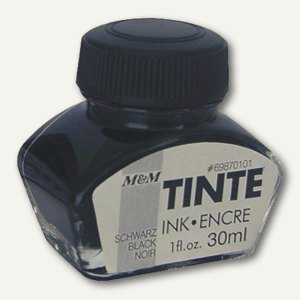 M&M Tintenglas schwarz, 30 ml, 69870101