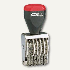 Colop Ziffernstempel mit 6 Zifferbändern, Druckhöhe 4 mm, 4250410602