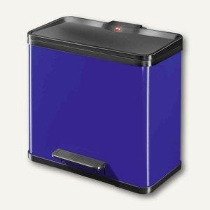 Hailo Tret-Abfalltrenner öko trio 33, 3 x 11 Liter, Stahlblech, blau, 0633-522