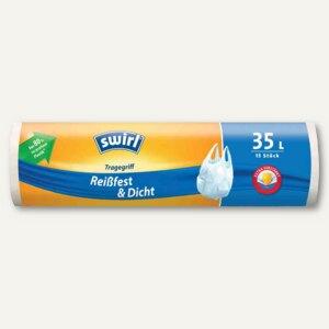 Müllbeutel mit Tragegriff, 35 Liter, antibakteriell, 15 Stück, 4006508140527
