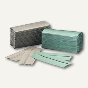 Papierhandtücher grau, Krepp-Qualität, 25 x 33 cm, C-Falzung, 3.640 St., 404668,