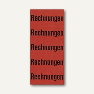 """Inhaltsschilder für Ordner, """"Rechnungen"""", selbstklebend, rot, 100 Stück, 05896"""