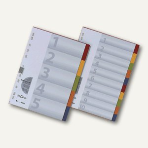 Pagna Register Karton DIN A4, 10-teilig, farbig, 32001-20