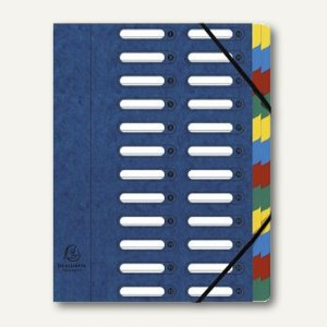 Exacompta Ordnungsmappe DIN A4, 24-teilig, blau, 55242E
