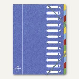 Exacompta Ordnungsmappe DIN A4, 12-teilig, blau, 55122E