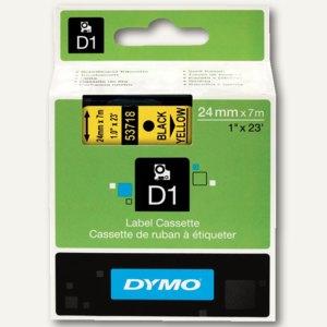 Dymo D1 Schriftband, 24mm x 7m, schwarz auf gelb, S0720980
