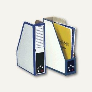 officio Zeitschriftenbox DIN A4, Karton, blau