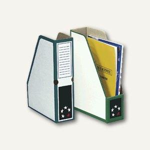 officio Zeitschriftenbox DIN A4, Karton, grün