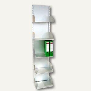 Ordnerregal mit 5 Fächern aus eloxiertem Aluminium