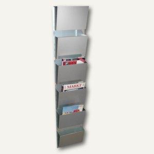 Wandzeitungshalter mit 6 Fächern