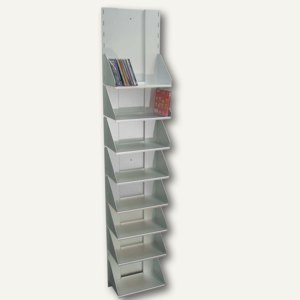 Artikelbild: CD-Regal mit 8 Fächern aus eloxiertem Aluminium