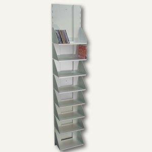 CD-Regal mit 8 Fächern aus eloxiertem Aluminium