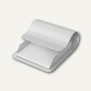 Zettelbox aus eloxiertem Aluminium