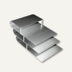 officio Papierablage DIN A4, aus eloxiertem Aluminium, 420 x 240 x 160 mm