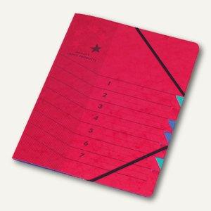 officio Ordnungsmappe DIN A4, 7-teilig, rot