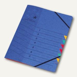 officio Ordnungsmappe DIN A4, 7-teilig, blau