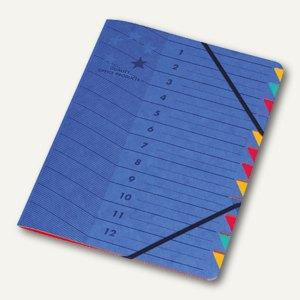 officio Ordnungsmappe DIN A4, 12-teilig, blau