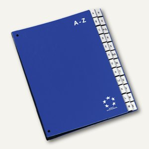 officio Pultordner DIN A4, Kunststoff, Register A-Z, blau